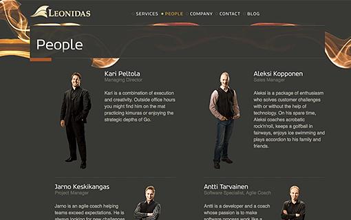 Leonidas web site